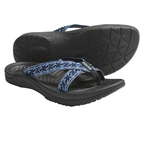 Kalso Earth Cabo San Lucas 2 Sandals - Flip-Flops, Vegan (For Women) in Sea Blue Multi