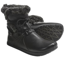 Kalso Earth Central Too Boots - Leather, Faux-Fur Lined (For Women) in Black Vintage Leather - Closeouts