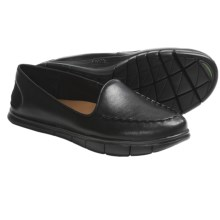Kalso Earth Dally Shoes - Leather, Slip-Ons (For Women) in Black Full Grain - Closeouts
