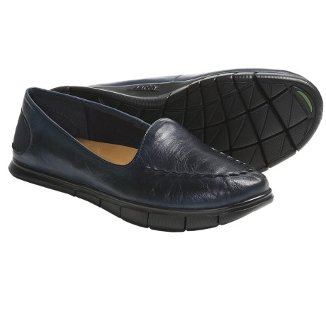 Kalso Earth Dally Shoes - Leather, Slip-Ons (For Women) in Navy Full Grain
