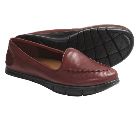 Kalso Earth Dally Shoes - Leather, Slip-Ons (For Women) in Almond Full Grain