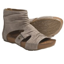 Kalso Earth Eminent Open-Toe Boot Sandals - Nubuck (For Women) in Taupe Leather - Closeouts