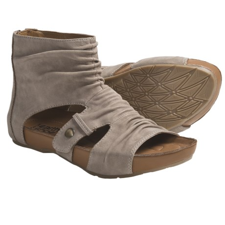 Kalso Earth Eminent Open-Toe Boot Sandals - Nubuck (For Women) in Taupe Leather