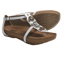 Kalso Earth Enchant Sandals - Jeweled Leather (For Women) in White Leather