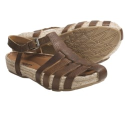 Kalso Earth Endear Sandals - Leather (For Women) in Almond Saddle Leather