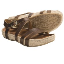 Kalso Earth Enlighten Sandals - Leather (For Women) in Almond Saddle Leather - Closeouts