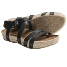Kalso Earth Enlighten Sandals - Leather (For Women) in Black Saddle Leather - Closeouts