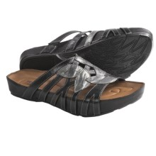 Kalso Earth Enthuse Sandals - Leather (For Women) in Black Calf - Closeouts