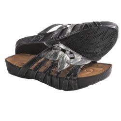 Kalso Earth Enthuse Sandals - Leather (For Women) in Black Calf