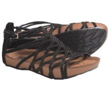 Kalso Earth Exquisite Sandals - Leather (For Women) in Black Suede - Closeouts