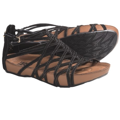 Kalso Earth Exquisite Sandals - Leather (For Women) in Black Suede