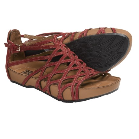 Kalso Earth Exquisite Sandals - Leather (For Women) in Bright Red Suede