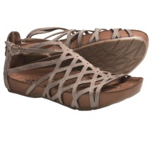 Kalso Earth Exquisite Sandals - Leather (For Women) in Taupe Khaki Suede - Closeouts
