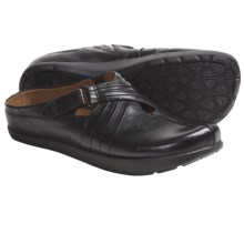 Kalso Earth Fawn Shoes - Leather, Slip-Ons (For Women) in Black Calf - Closeouts