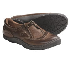 Kalso Earth Intone Shoes - Leather, Front Zip, Slip-Ons (For Women) in Ochre Vintage Leather - Closeouts