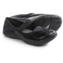 Kalso Earth Intrigue Too Mary Jane Shoes - Leather (For Women) in Black Suede - Closeouts