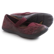 Kalso Earth Intrigue Too Mary Jane Shoes - Leather (For Women) in Merlot Suede - Closeouts