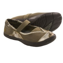 Kalso Earth Intrigue Too Shoes - Mary Janes (For Women) in Khaki Metallic Mesh - Closeouts