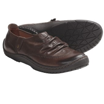 Kalso Earth Invoke Shoes - Leather, Side Zip, Slip-On (For Women) in Sandstone Vintage Leather