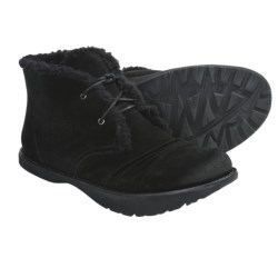 Kalso Earth Nomad Ankle Boots - Suede, Faux-Shearling Lining (For Women) in Black Suede