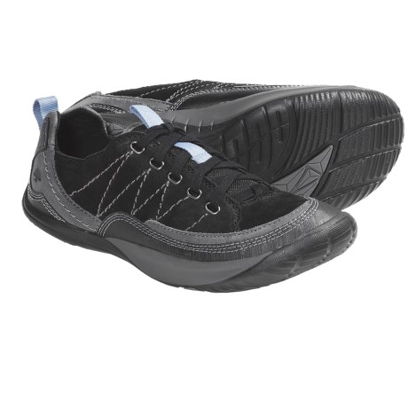 Kalso Earth Pace Lace-Up Shoes (For Women) in Black Soft Buck