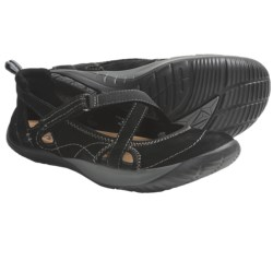 Kalso Earth Penchant Shoes - Leather (For Women) in Black Nubuck