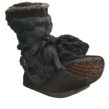 Kalso Earth Pike Boots - Faux-Shearling Lining (For Women) in Dark Brown - Closeouts