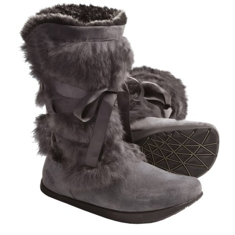 Kalso Earth Pike Boots - Faux-Shearling Lining (For Women) in Grey