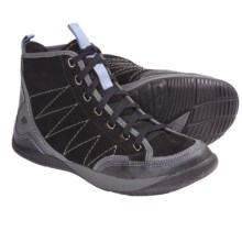 Kalso Earth Promise High Top Sneakers (For Women) in Black Soft Buck - Closeouts