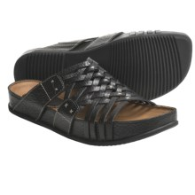 Kalso Earth Rhapsody Sandals - Leather (For Women) in Black Worn Saddle - Closeouts