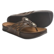 Kalso Earth Rhyme Sandals - Leather (For Women) in Almond Saddle Leather - Closeouts
