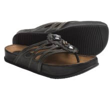 Kalso Earth Rhyme Sandals - Leather (For Women) in Black Saddle Leather - Closeouts