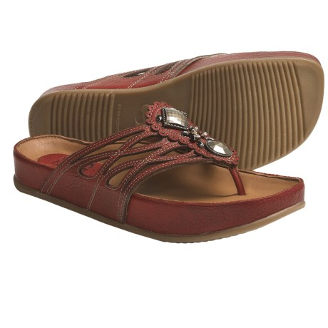 Kalso Earth Rhyme Sandals - Leather (For Women) in Rosso Saddle Leather