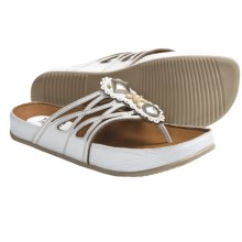 Kalso Earth Rhyme Sandals - Leather (For Women) in White Leather - Closeouts