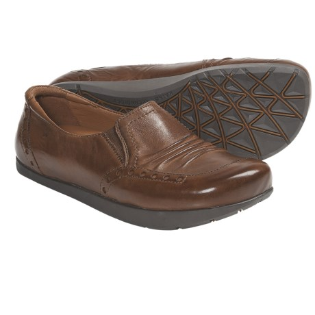 Kalso Earth Shake Shoes - Leather, Slip-Ons (For Women) in Dark Grey Calf Leather