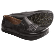 Kalso Earth Shake Shoes - Leather, Slip-Ons (For Women) in Black Calf - Closeouts