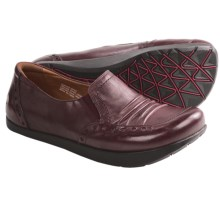 Kalso Earth Shake Shoes - Leather, Slip-Ons (For Women) in Merlot Calf - Closeouts