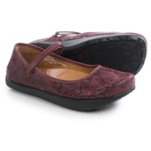 Kalso Earth Solar 3 Mary Jane Shoes - Leather (For Women) in Merlot Suede - Closeouts