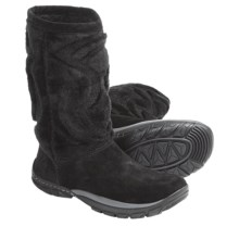Kalso Earth Supernova Boots -Leather, Faux Fur (For Women) in Black Suede - Closeouts