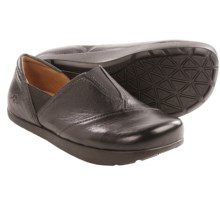 Kalso Earth Trigg Leather Shoes - Slip-Ons (For Women) in Black Leather - Closeouts