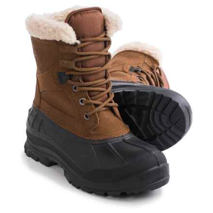 Kamik Acadia Pac Boots - Suede, Waterproof, Insulated (For Women) in Tan - Closeouts