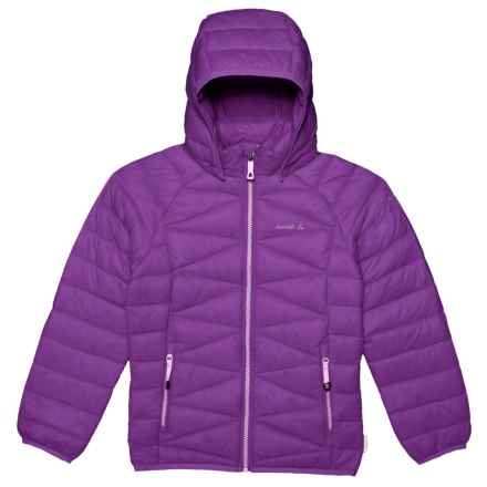Kamik Adele Down Jacket (For Little Girls) in Grape - Closeouts