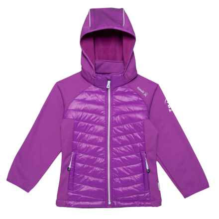 Kamik Adele Skye Jacket with Removable Hood - Insulated (For Little Girls) in Grape - Closeouts