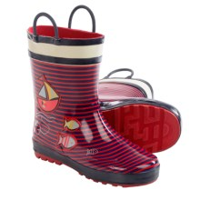 Kamik Ahoy Rubber Rain Boot - Waterproof (For Toddlers) in Rose - Closeouts
