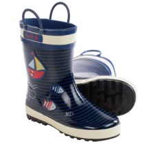 Kamik Ahoy Rubber Rain Boots - Waterproof (For Little Kids) in Dark Blue - Closeouts