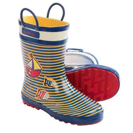 Kamik Ahoy Rubber Rain Boots - Waterproof (For Little Kids) in Yellow - Closeouts