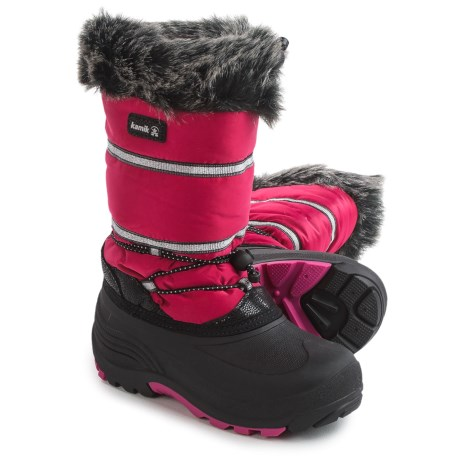 Kamik Amarok Pac Boots - Insulated (For Little and Big Kids) in Rose