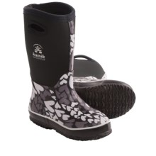 Kamik Amour Neoprene Boots - Waterproof (For Kid and Youth Girls) in Black/White - Closeouts
