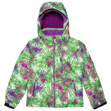 Kamik Aria Flower Burst Ski Jacket - Insulated (For Little Girls) in Peppermint/Pink - Closeouts