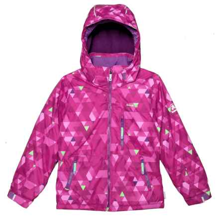 Kamik Aria Freestyle Ski Jacket - Insulated (For Big Girls) in Pink/Peppermint - Closeouts